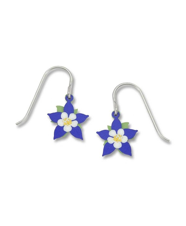 Sienna Sky Handpainted Columbine Flower 2-part Earrings 802-1 - CG12I591LWP