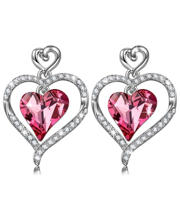 """LadyColour """"Rose Lover"""" Dancing Heart Pendant Necklace Made With Swarovski Crystals - Dancing for you! - CH12GEGZG1N"""