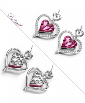 LadyColour Earrings Swarovski Anniversary Girlfriend