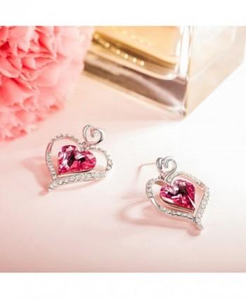 LadyColour Earrings Swarovski Anniversary Girlfriend in Women's Drop & Dangle Earrings