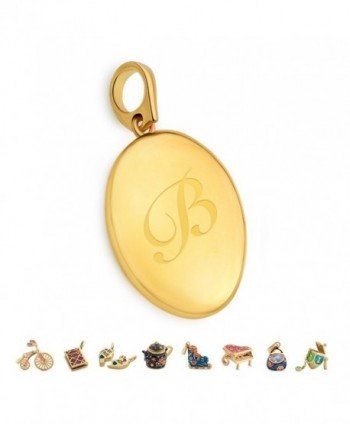 Letter Plated Alphabet Initial Locket - B - CY17X0Q7E78