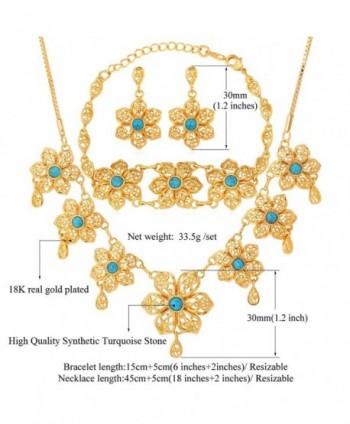 U7 Turquoise Earrings Necklace Bracelet in Women's Jewelry Sets