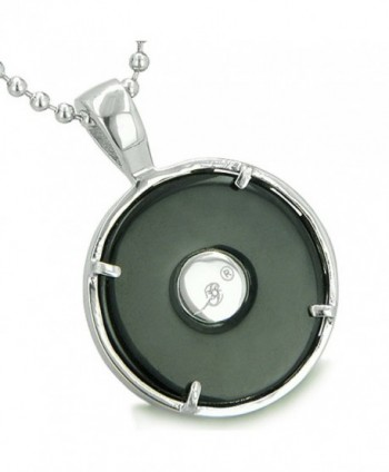 Medallion Amulet Simulated Pendant Necklace in Women's Pendants