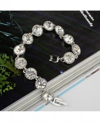 EVER FAITH Silver Tone Crystal Bracelet in Women's Tennis Bracelets