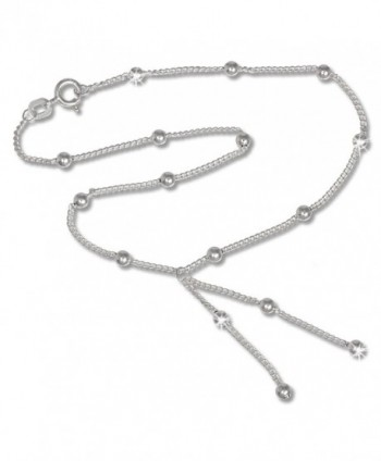 SilberDream anklet silverballs- 9.8 inch 925 Sterling Silver SDF013 - C9119YUS16T