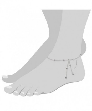 SilberDream anklet silverballs Sterling SDF013