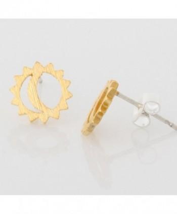 LAONATO Plated Brass Moon Earrings