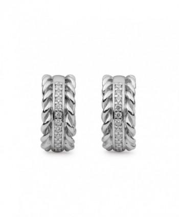 Sterling Silver Zirconia Decorative Earrings