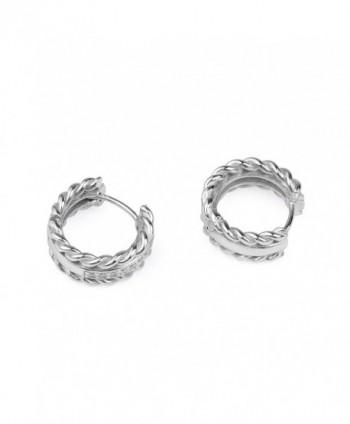 Sterling Silver Zirconia Decorative Earrings in Women's Hoop Earrings