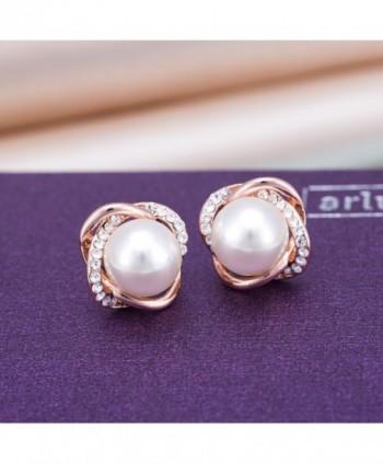 Plated Earrings Golden Simulated Jewelry in Women's Ball Earrings