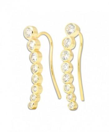 Sterling Bezel set Climber Hypoallergenic Earrings in Women's Cuffs & Wraps Earrings