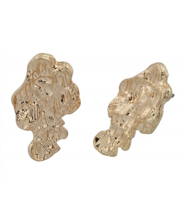Goldtone Tone Nugget Stud Earrings - CU11EW3XP2X