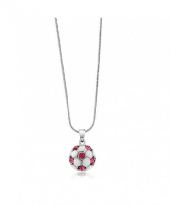 Stunning White Soccer Crystals Pendant