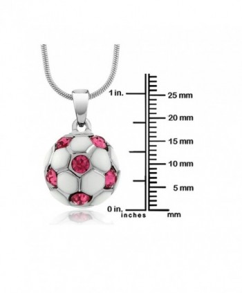 Stunning White Soccer Crystals Pendant in Women's Pendants