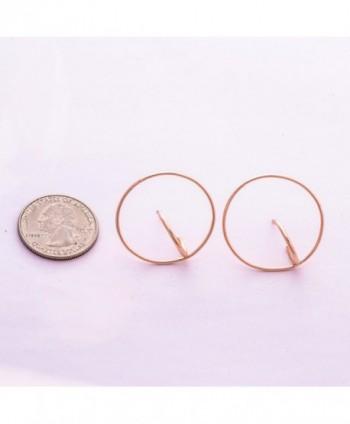 Jane Stone Geometric Earrings E0634 Rose in Women's Stud Earrings