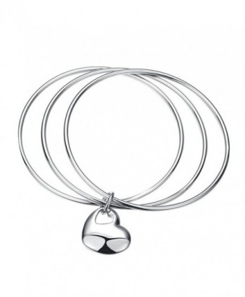 Ginalee Women's 3 Circles Silver Bracelet Cuff Bangle - CI12MZ21GYL