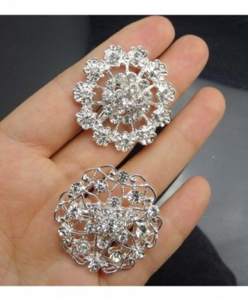 Silver Crystals Brooches Floriated Bouquet