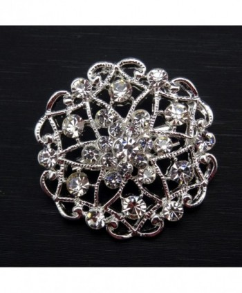 Silver Crystals Brooches Floriated Bouquet in Women's Brooches & Pins