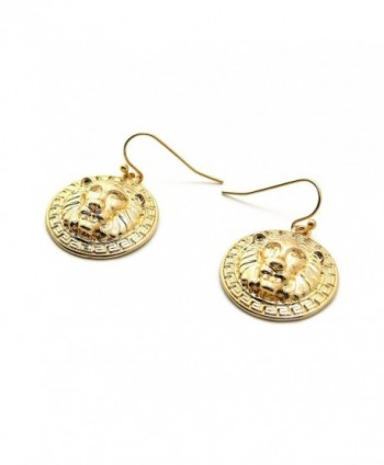 Celebrity Style Charm Earrings Gold Tone