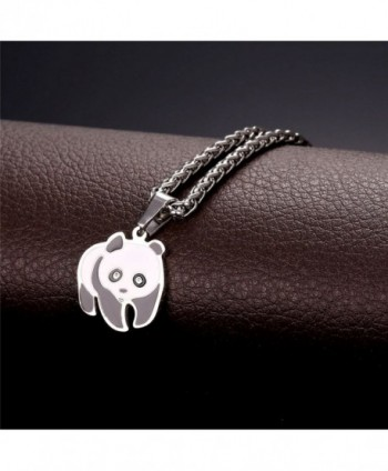 Women Girls Panda Pendant Necklace in Women's Pendants