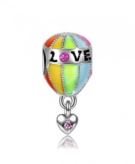"""NinaQueen """"Hot Air Balloon Trip"""" 925 Sterling Silver Bead Charms - CQ11Y257CRF"""