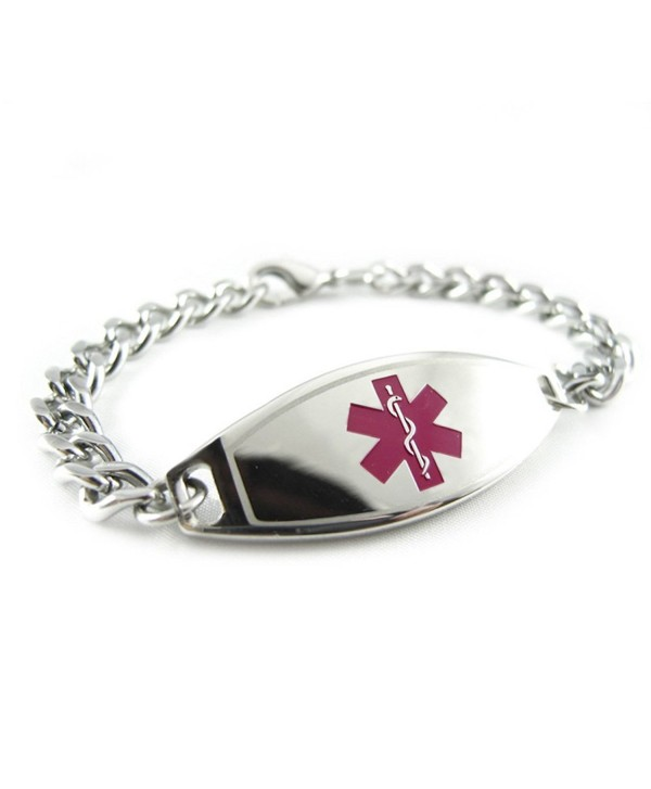 MyIDDr - Pre-Engraved & Customized Coumadin Medical Bracelet- Purple - CU119I6R0RP