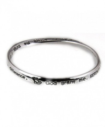 4030645 Serenity Prayer Twisted Bangle Bracelet 12 Step AA God Grant Me Christian Religious Al Anon - CP11C1OVR57