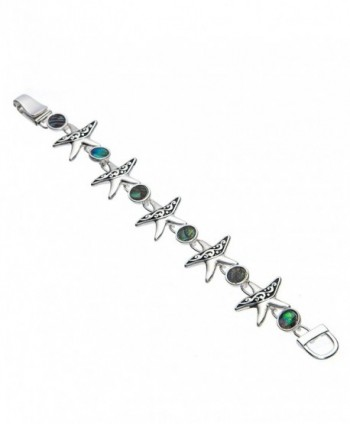 Starfish Green Abalone Tennis Bracelet