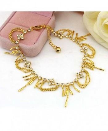 SusenstoneWomen Diamond Bracelet Barefoot Jewelry in Women's Anklets