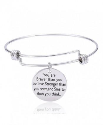 Stronger Smarter Inspirational Bracelet Expandable in Women's Bangle Bracelets