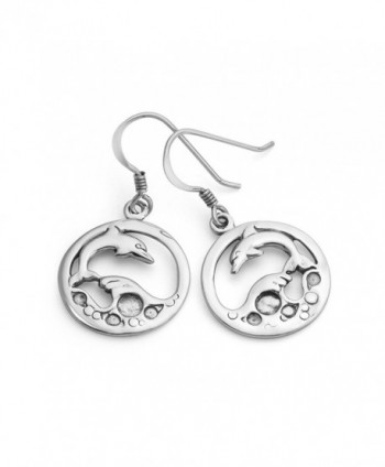 Sterling Jumping Dolphin Playing Earrings