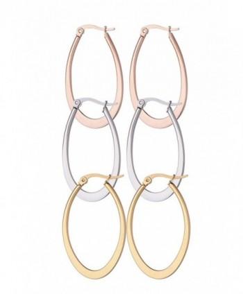 Stainless Teardrop Stainlees Regetta Jewelry in Women's Hoop Earrings