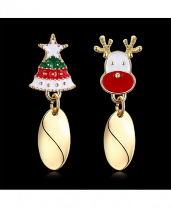 WIBERN Shining Christmas Reindeer Earrings