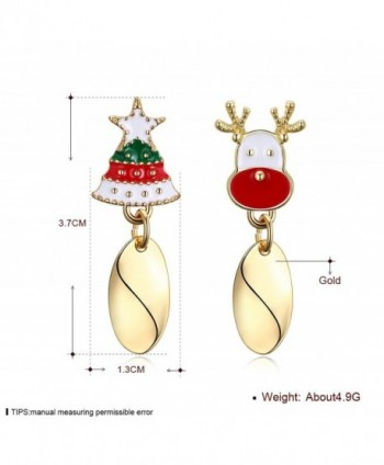 WIBERN Shining Christmas Reindeer Earrings in Women's Stud Earrings