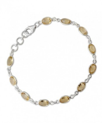 NOVICA Citrine Sterling Bracelet Romantic