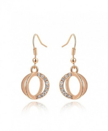 Mothers Valentine Plated Dangle Earrings - rose gold plated - C017AZ77HTW