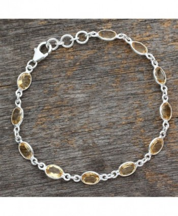 NOVICA Citrine Sterling Bracelet Romantic in Women's Tennis Bracelets