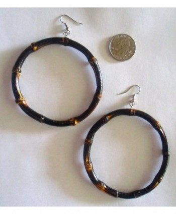 Bamboo Large Diameter Earrings Burnt