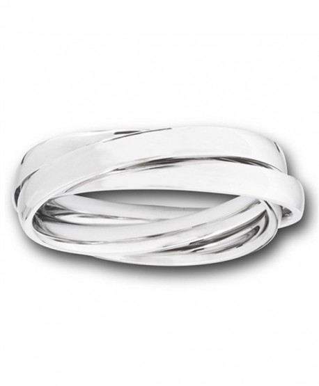 Triple Rolling Stackable Fashion Three Ring Set Stainless Steel Band Sizes 6-13 - CF182M38TM3