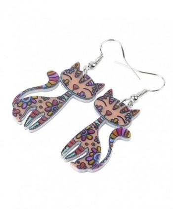 Bonsny Sitting Earrings Acrylic Pattern in Women's Drop & Dangle Earrings