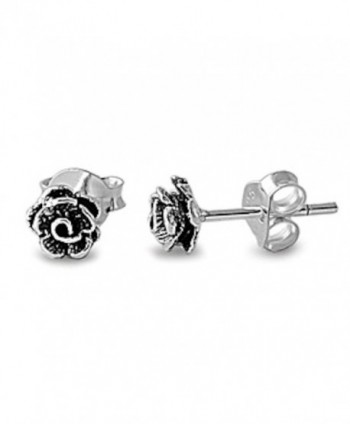 Rose Studs Earring Set - CH11CYS8IWF