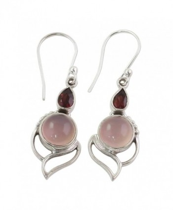 NOVICA Multi Gem Chalcedony Sterling Earrings in Women's Drop & Dangle Earrings