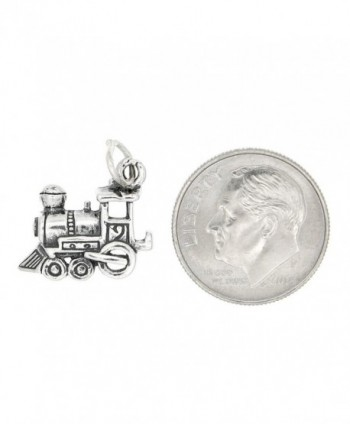 Sterling Silver Oxidized Medium Engine