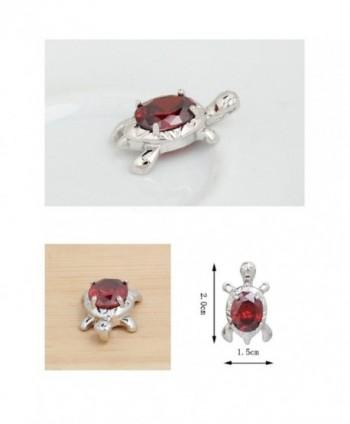 Turtle Pendant Necklace Zirconia Crystals