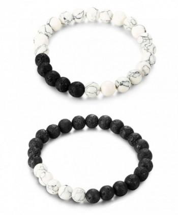 LOYALLOOK Matching Bracelets Natural Bracelet in Women's Link Bracelets