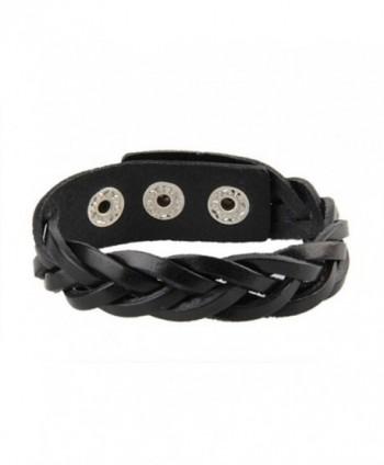 Leather Bracelet Braided Wristband Jewelry