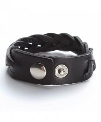 Leather Bracelet Braided Wristband Jewelry in Women's Wrap Bracelets