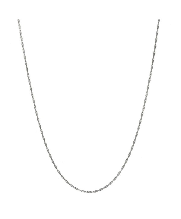"Sterling Silver 1.5mm Italian Twisted Curb Chain Necklace All Sizes 16"" - 30"" - CN12ODBJ0RR"