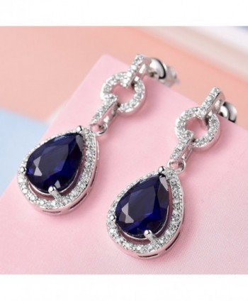 GULICX Flawless Zirconia Earrings Sapphire