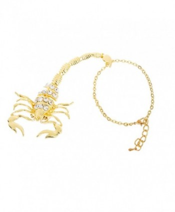 Goldtone Scorpion Adjustable Bracelet F 264
